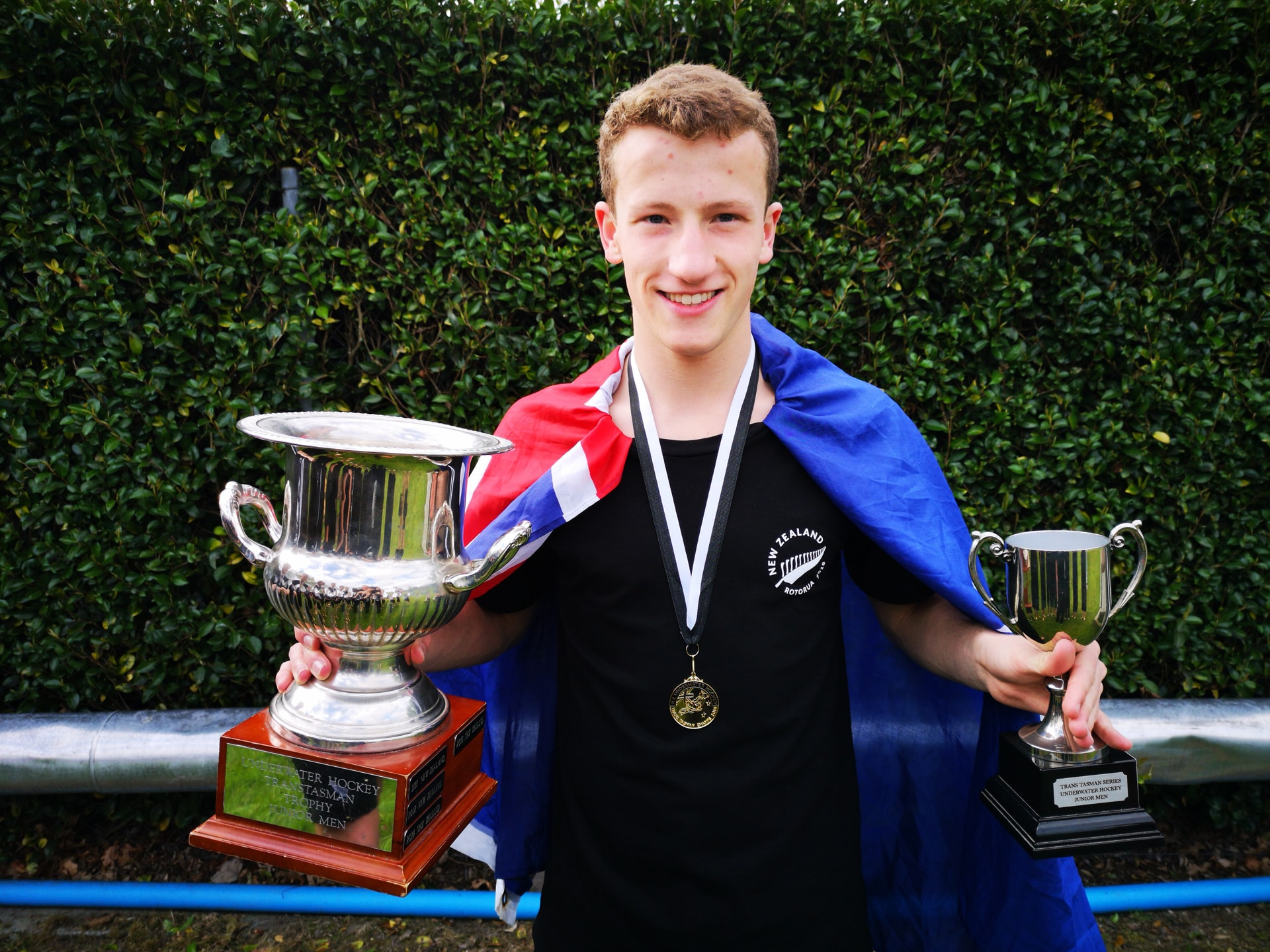 #sport:  Old Boy represents NZ in winning team