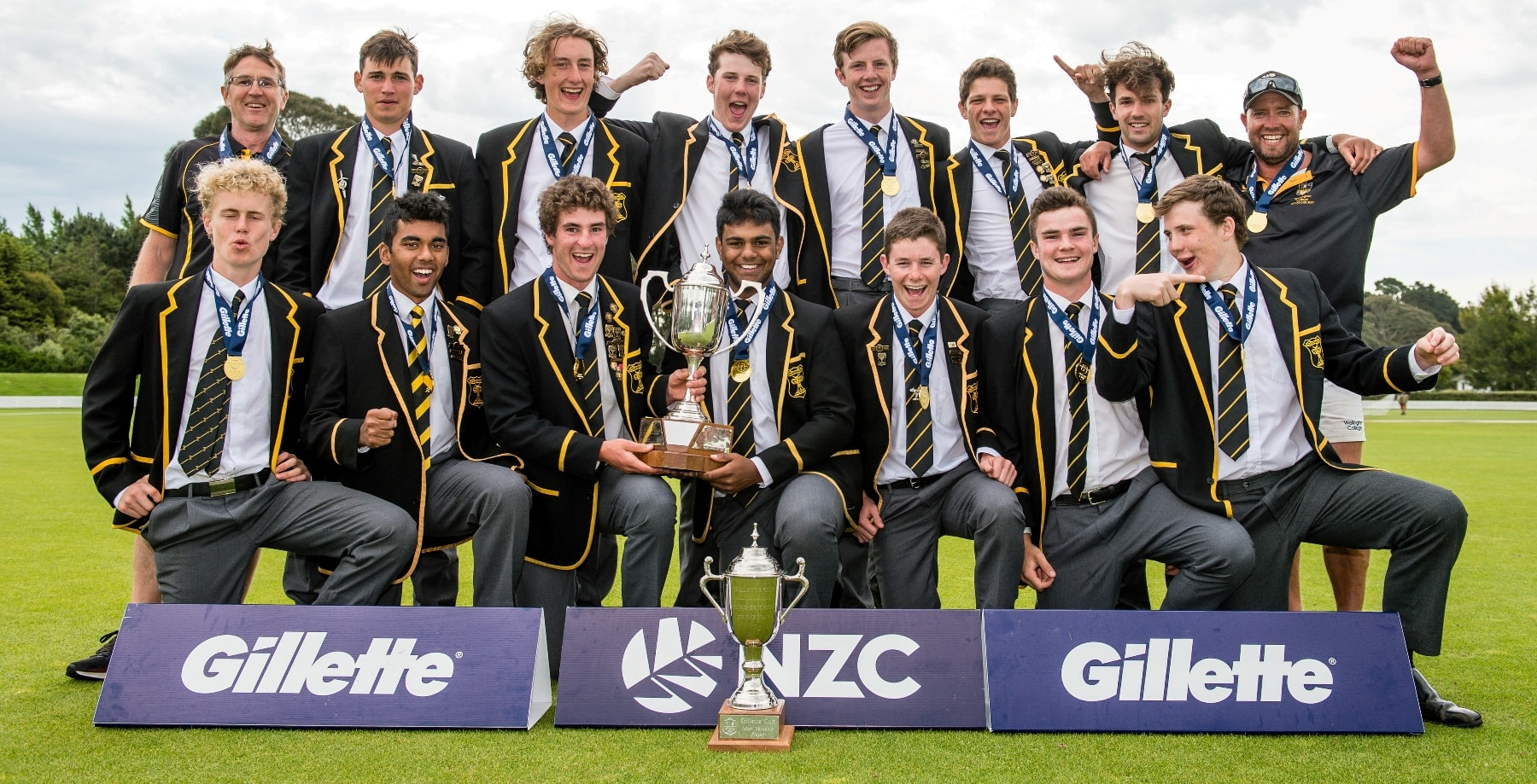 #sport:  Old Boys make up core of WN Colllege 1st XI 2018 Gillette Cup winners