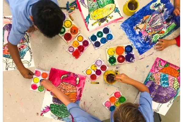 Making Art: Collaboration and Perseverance. Photo Credit: Glen Jorna- winner April 19 Staff Photo Competition