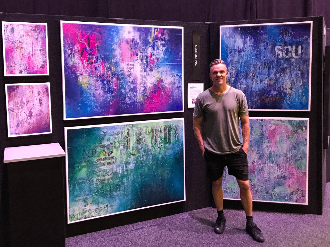 Celebrating our talented staff: Glen Jorna exhibits at the NZ Art Show
